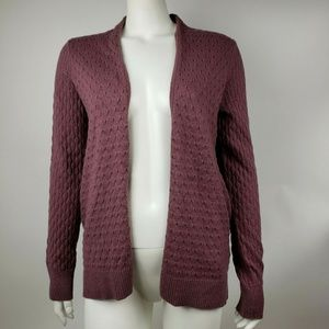 ANN TAYLOR LOFT Purple Cardigan Small